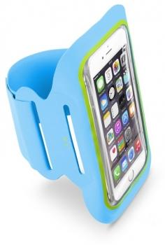 CellularLine Armband Fitness sportovní pouzdro na paži pro mobilní telefon, mobil, smartphone do 5,2 modrá (blue)