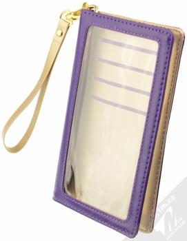 CellularLine Touch Wallet univerzální pouzdro s peneženkou pro mobilní telefon, mobil, smartphone fialová (violet)
