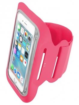 CellularLine Armband Fitness sportovní pouzdro na paži pro mobilní telefon, mobil, smartphone do 5,2 purpurová (fuchsia)