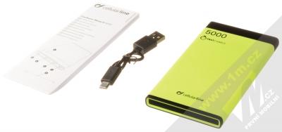 CellularLine FreePower Manta S záložní zdroj 5000mAh limetkově zelená černá (green black) balení