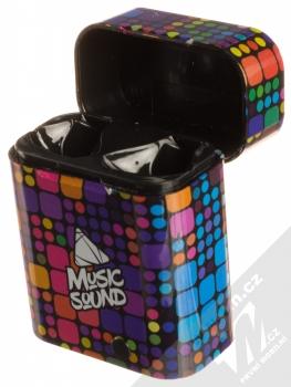 Cellularline Music Sound TWS6 Bluetooth Earphones stereo sluchátka černá (black) nabíjecí pouzdro otevřené