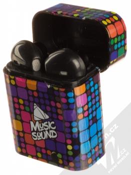 Cellularline Music Sound TWS6 Bluetooth Earphones stereo sluchátka černá (black) nabíjecí pouzdro se sluchátky