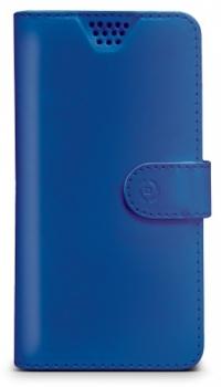 Celly Wally Unica L univerzální flipové pouzdro pro mobilní telefon, mobil, smartphone modrá (blue)