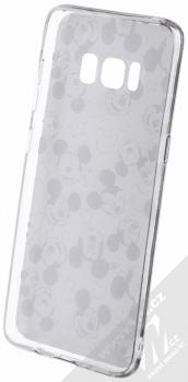 Disney Mickey Mouse 007 TPU ochranný silikonový kryt s motivem pro Samsung Galaxy S8 bílá (white) zepředu