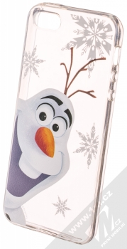 Disney Olaf 002 TPU ochranný silikonový kryt s motivem pro Apple iPhone 5, iPhone 5S. iPhone SE průhledná (transparent)