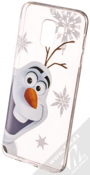 Disney Olaf 002 TPU ochranný silikonový kryt s motivem pro Samsung Galaxy J6 (2018) průhledná (transparent)