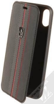 Ferrari Urban flipové pouzdro pro Apple iPhone X (FEURFLBKPXBKR) černá červená (black red)