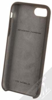 Ferrari Scuderia Silicone ochranný kryt pro Apple iPhone 7, iPhone 8 (FESSIHCI8BK) černá (black) zepředu