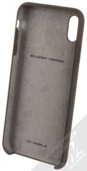 Ferrari Scuderia Silicone ochranný kryt pro Apple iPhone XS Max (FESSIHCI65BK) černá (black) zepředu