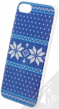 Flavr Ugly Xmas Sweater ochranný kryt s motivem pleteného svetru pro Apple iPhone 7, iPhone 8 modrá (blue)