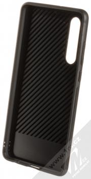 Forcell Denim ochranný kryt v imitaci džínoviny pro Huawei P30 černá (black) zepředu