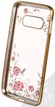 Forcell Diamond Flower TPU ochranný kryt pro Samsung Galaxy S10e zlatá (gold) zepředu
