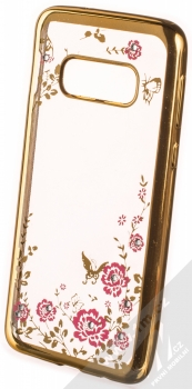 Forcell Diamond Flower TPU ochranný kryt pro Samsung Galaxy S10e zlatá (gold)