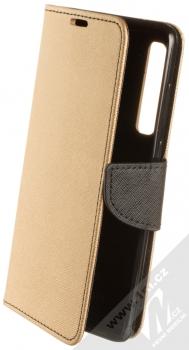 Forcell Fancy Book flipové pouzdro pro Samsung Galaxy A9 (2018) zlatá černá (gold black)
