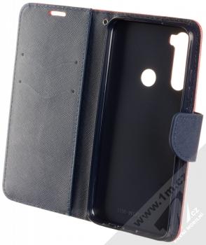 Forcell Fancy Book flipové pouzdro pro Xiaomi Redmi Note 8 červená modrá (red blue) otevřené