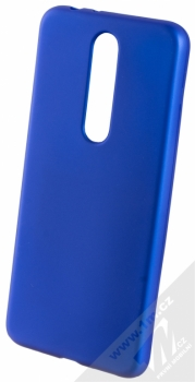 Forcell Jelly Matt Case TPU ochranný silikonový kryt pro Nokia 5.1 Plus modrá (blue)