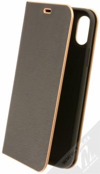 Forcell Luna flipové pouzdro pro Apple iPhone X černá (black)