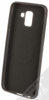 Forcell Soft Magnet Case TPU ochranný kryt podporující magnetické držáky pro Samsung Galaxy J6 (2018) černá (black) zepředu