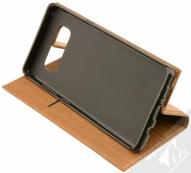 Forcell Wood flipové pouzdro s motivem dřeva pro Samsung Galaxy Note 8 hnědý dub (oak brown) stojánek