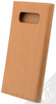 Forcell Wood flipové pouzdro s motivem dřeva pro Samsung Galaxy Note 8 hnědý dub (oak brown) zezadu