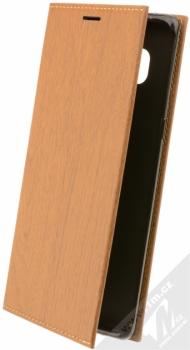 Forcell Wood flipové pouzdro s motivem dřeva pro Samsung Galaxy Note 8 hnědý dub (oak brown)