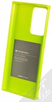 Goospery Jelly Case TPU ochranný kryt pro Samsung Galaxy Note 20 Ultra limetkově zelená (lime green) zepředu