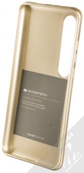 Goospery Jelly Case TPU ochranný silikonový kryt pro Xiaomi Mi 10, Mi 10 Pro zlatá (gold) zepředu