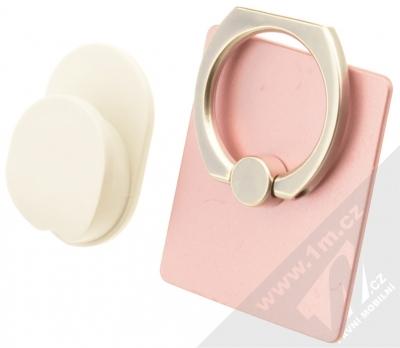 GreenGo Sticky Smart-Ring držák na prst růžová (pink)