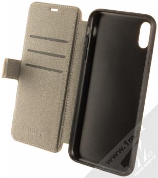 Guess 4G Book flipové pouzdro pro Apple iPhone XS Max (GUFLBKI654GB) hnědá (brown) otevřené