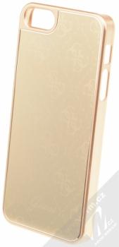 Guess Metallic Hard Case ochranný kryt pro Apple iPhone 5, iPhone 5S, iPhone SE (GUHCPSEMEGO) zlatá (gold)