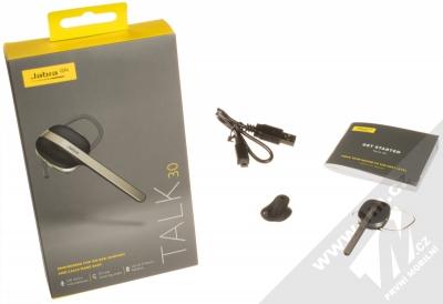 Jabra Talk 30 Bluetooth headset černá (black) balení