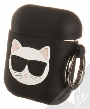 Karl Lagerfeld Choupette AirPods Silicone Case silikonové pouzdro pro sluchátka Apple AirPods (KLACA2SILCHBK) černá (black)