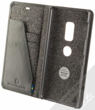 Krusell Sunne FolioWallet flipové pouzdro pro Sony Xperia XZ2 černá (vintage black) otevřené