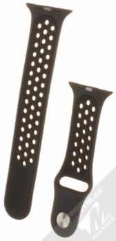 Maikes Sport Strap silikonový pásek na zápěstí pro Apple Watch 42mm černá (black) zezadu
