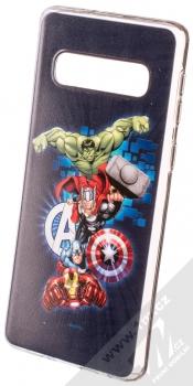 Marvel Avengers 001 TPU ochranný silikonový kryt s motivem pro Samsung Galaxy S10 tmavě modrá (dark blue)
