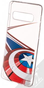 Marvel Kapitán Amerika 008 TPU ochranný silikonový kryt s motivem pro Samsung Galaxy S10 průhledná (transparent)