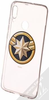 Marvel Kapitánka Marvel 016 TPU ochranný silikonový kryt s motivem pro Huawei P Smart (2019) průhledná (transparent)