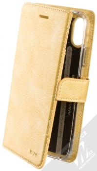 Molan Cano Issue Diary flipové pouzdro pro Apple iPhone XR zlatá (gold)