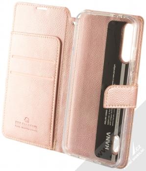 Molan Cano Issue Diary flipové pouzdro pro Xiaomi Mi A3 růžově zlatá (rose gold) otevřené
