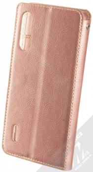 Molan Cano Issue Diary flipové pouzdro pro Xiaomi Mi A3 růžově zlatá (rose gold) zezadu