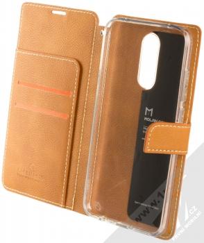 Molan Cano Issue Diary flipové pouzdro pro Xiaomi Redmi 8 hnědá (brown) otevřené