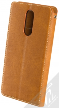Molan Cano Issue Diary flipové pouzdro pro Xiaomi Redmi 8 hnědá (brown) zezadu