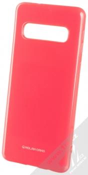 Molan Cano Jelly Case TPU ochranný kryt pro Samsung Galaxy S10 sytě růžová (hot pink)