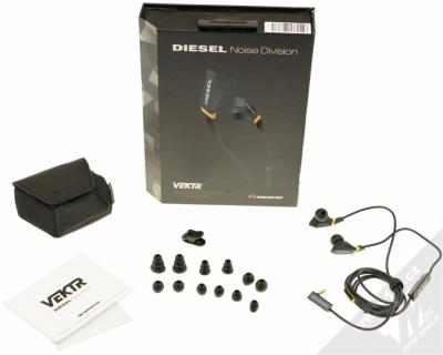 Monster Diesel Vektr In-Ear sluchátka s mikrofonem a ovladačem Control Talk černá (black) balení