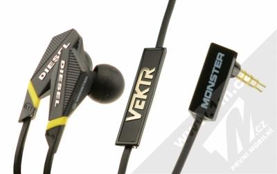 Monster Diesel Vektr In-Ear sluchátka s mikrofonem a ovladačem Control Talk černá (black)