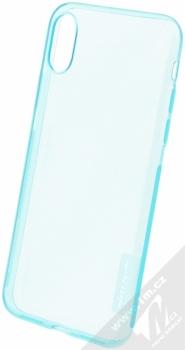 Nillkin Nature TPU tenký gelový kryt pro Apple iPhone X, iPhone XS modrá (transparent blue)