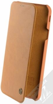 Nillkin Qin flipové pouzdro pro Samsung Galaxy J4 Plus (2018) hnědá (brown)