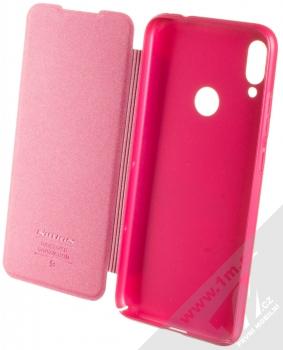 Nillkin Sparkle flipové pouzdro pro Xiaomi Redmi Note 7 růžová (rose red) otevřené