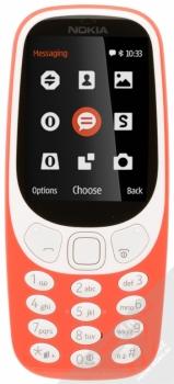NOKIA 3310 (2017) červená (warm red) zepředu