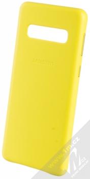 Samsung EF-VG973LY Leather Cover kožený originální ochranný kryt pro Samsung Galaxy S10 žlutá (yellow)
